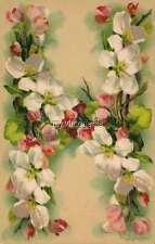 "Vintage Victorian Klein Floral Letter Initial ""H""  2"" x 3"" Fridge Magnet"