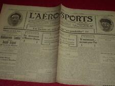 [Coll. Jean DOMARD SPORTS] L'AERO-SPORTS Auto Vélo Aviation Boxe etc. N°144 1923