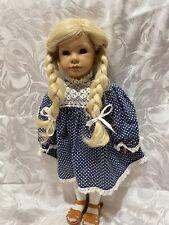 "Original 18"" Tall Heidi Ott Doll Blonde Hair With Dress & Shoes"
