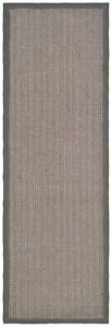 "Safavieh Natural Fiber Grey Brown / Grey Sisal Runner 2' 6"" x 16'"