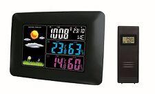 Funk Farb Wetterstation WS60, Funksensor, Wettervorhersage, Funkuhr, Wecker