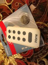 Original iHome iPod white Remote Control snooze/dimmer Tested Free New Battery