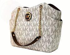 MICHAEL KORS TASCHE/BAG JET SET TRAVEL LG CHAIN TOTE Canvas Leder vanilla/luggag
