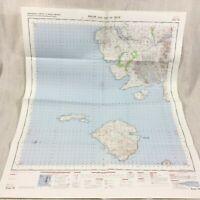1969 Vintage Militare Mappa Di Il Isola Di Rum Scozia Scozzese Interno Hebrides