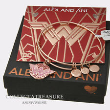 Authentic Alex and Ani Wonder Woman Shiny Rose Color Infusion Charm Bangle
