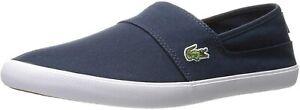 Mens Lacoste Marice BL 2 CAM CNV Slip On Shoes - Dark Blue [7-33CAM1071DB4]