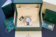 ROLEX Stainless Steel Daytona Cosmograph 116520 White Face Dial 2010 Box MINT