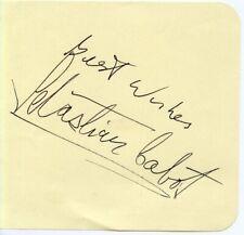 SEBASTIAN CABOT: Disney Voice Artist: POOH Etc: FAMILY AFFAIR Star: Autograph