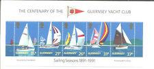 Guernsey-Yachting mnh sheet-Yachts-Sailing