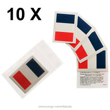 10 x Frankreich Fan Tattoo - Fahne - France Flag Tattoo  - WM 2018 Fanartikel