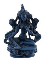 Soprammobile Tibetano Da Verde Tara IN Resina Blu Lapislazzuli 11 CM 234 MIL4