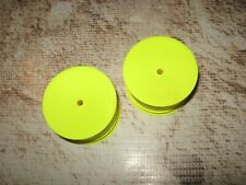 Vintage RC Losi XXX Series Solid Wide Rear Wheels Yellow (2) 7104 Used