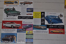 1960 CHRYSLER Station Wagons advertisements x3, Plymouth Fury, Dodge Dart etc
