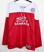 DENMARK Official National Team Ice Hockey Jersey Men S M Adult Shirt NHL Danmark