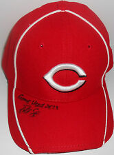 Robert Stephenson Cincinnati Reds SIGNED 2013 Game Used Hat