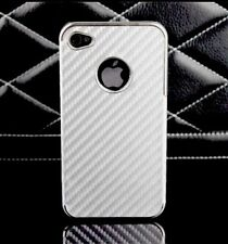 Luxury Silver Leather look Hard Case Cover for Apple iPhone 4 4G 4S - NEW