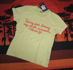 THINK PINK Shirt mit Brustprint  Gr. M gelb