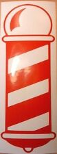 EXTRA LARGE 2FOOT red barbers barber pole shop front vinyl graphic sticker decal