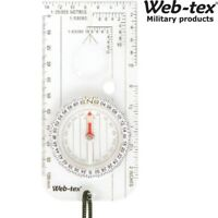 WEB-TEX MILITARY MAP COMPASS MILS RULER SCALE ORIENTEERING BRITISH ARMY SURVIVAL