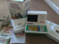 Rare GRANDSTAND number cruncher 1980's Vintage Retro Gaming boxed& mains adapter
