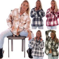 Damen-Jacke Karo Blogger Hemd Oversized Stylischer Holzfäller Blouson Hemd Bluse