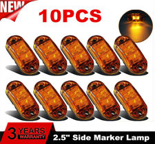 10PCS E-MARKED ORANGE AMBER 12V 2 LED SIDE MARKER INDICATORS LIGHTS TRUCK LORRY@