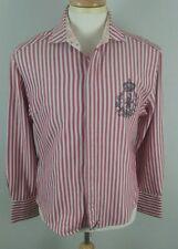 English Laundry Flip Cuff Embroidered Shirt Plaid Size Medium Striped