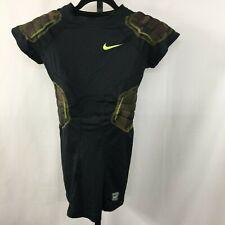 NIKE Pro Combat Men's XL Black Green Camouflage Padded compress shirt football