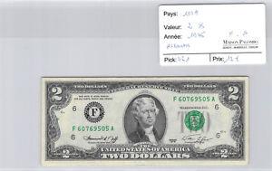 USA $2 Dollars 1976 Atlanta F60769505A Pick 461