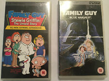 2 BOXED SONY PSP CATROON FILMS FAMILY GUY STEWIE THE UNTOLD STORY + BLUE HARVEST