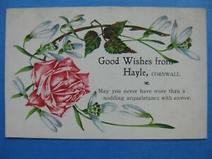 Cornwall postcard Good wishes from Hayle free post