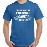 /'This is What an Awesome Gamer Looks Like/' Computer Xbox PS3 PS4 Funny T-shirt