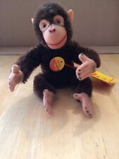 Vintage Mohair Steiff Jocko Chimpanzee Bendable Arms/Legs 0020/16 All Tags