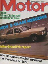 Motor magazine 15/9/1979 featuring Citroen road test, Gordon Keeble, Alfasud