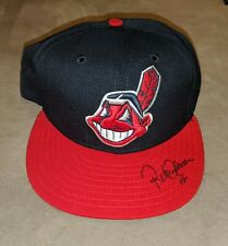 ROBERTO ALOMAR CLEVELAND INDIANS Signed New Era Fitted Hat Cap 7 3/8 COA Auto