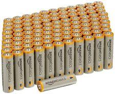 amazonbasics AA Alkaline Batteries 96 Pack New Sealed Expiration Date 02/2028