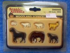 SCENIC ACCENTS  Railroad HO Scale Livestock #A1844 Horses, Goat, Sheep 2002  c1