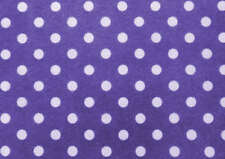 PRINTED PATTERN Acrylic Felt Mauve with White dots
