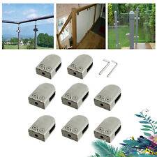 8PCS Stainless Steel 304 Glass Clamp Holder For Balustrade Staircase Adjustable