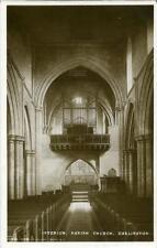 REAL PHOTOGRAPHIC POSTCARD OF DARLINGTON CHURCH INTERIOR, COUNTY DURHAM