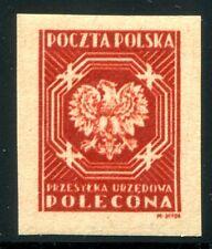 Servizio Polonia 1945 22p ** Post freschezza campione ungezähnt, Sign jendrozek (z2476