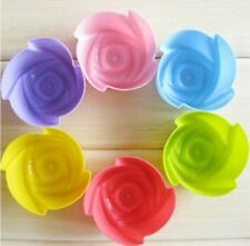 5cm Rose Reusable Silicon Soap Fondant Icing Chocolate Mold 5cm x 2.4cm UK Stock