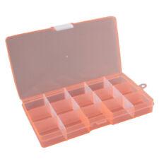 Ajustable de plástico caja de almacenamiento 15/24/36 grid organizador joyas