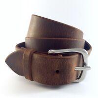 "Men's Amish Made Leather Belt Lifetime Guarantee  USA Full Grain Leather 1.5"""