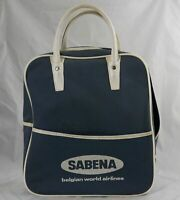 Sabena Belgian World Airlines Vintage Canvas Bag Vinyl Handle Made in Belgium