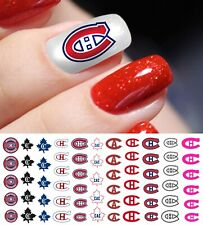 Montreal Canadiens Hockey Nail Art Decals - Salon Quality!