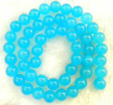 On Sale Natural 8mm South African Blue Topaz Gems Round Loose Beads 15'' AAA