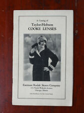 KODAK CATALOG B OF TAYLOR-HOBSON COOKE LENSES + 1936/1937 PRICE LISTS/216600