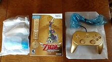 The Legend of Zelda Skyward Sword Wii Remote Bundle + Gold Nunchuk + Classic Pro