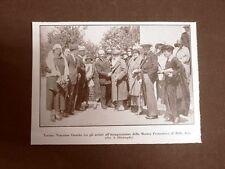 Torino nel 1924 Mostra promotrice di Belle Arti Inaugura Vincenzo Gemito